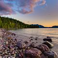 Lake Mcdonald At Sunset Veritcal by Adam Mateo Fierro