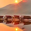 Lake Mcdonald Fiery Sunset by Adam Jewell