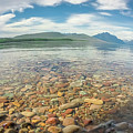 Lake Mcdonald In Glacier National Park At Sunset by Alex Grichenko