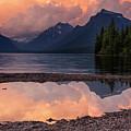 Lake Mcdonald Sunset by Mark Kiver
