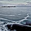 Lake Michigan Frozen by Barbara Budish