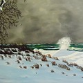 Lake Michigan In The Winter by Janet Guss