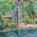 Lake Michigan Old Lighthouse by Matthew Handy