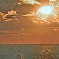 Lake Michigan Sunset. by Jorge Gaete