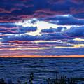 Lake Michigan Windy Sunrise by Joni Eskridge