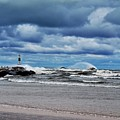 Lake Michigan With Big Wind  by Michelle Calkins