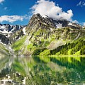 Lake Mountain Green Nature Landscape By Elvin Siew Chun Wai by Elvin Siew Chun Wai