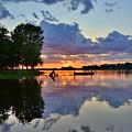 Lake Murray Sc Reflections by Lisa Wooten