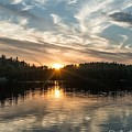Lake Onaping Sunset Reflections by Megan Miller