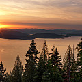 Lake Pend Oreille Sunset View by Leland D Howard