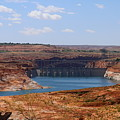 Lake Powell And Glen Canyon Dam by Christiane Schulze Art And Photography