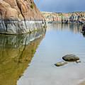 Lake Reflections At Granite Dells by Daniel Dean