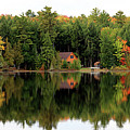 Lake Reflections Panorama 4370 4371 by Jack Schultz