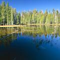 Lake Reflections Yosemite National Park California by George Oze