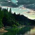 Lake Shasta Painterly by Peter Piatt