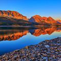 Lake Sherburne Dawn by Greg Norrell