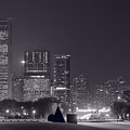 Lake Shore Drive Chicago B And W by Steve Gadomski