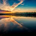 Lake Sunset by Rikk Flohr