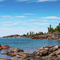 Lake Superior Coastline by Les Palenik