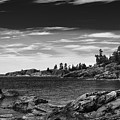 Lake Superior Coastline - Monochrome by Les Palenik