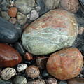 Lake Superior Wet Rocks by David T Wilkinson