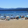 Lake Tahoe Beach Scene by Carol Groenen