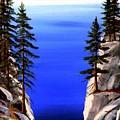 Lake Tahoe Framed by Frank Wilson