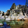 Lake Tahoe- Pyramid Of Rocks by Russell  Barton