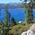 Lake Tahoe With Mountains by Carol Groenen