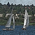 Lake Union Regatta by Tim Allen