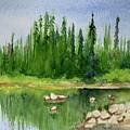 Lake View 1-2 by Yoshiko Mishina