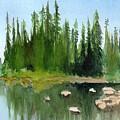 Lake View 1 by Yoshiko Mishina
