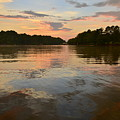 Lake Wedowee Alabama At Sunset by Mountains to the Sea Photo