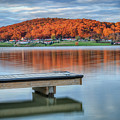Autumn Red At Lake White by Jaki Miller