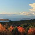 Lake Winnipesaukee Overlook In Autumn by John Burk