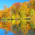 Lakeside Autumn Reflections Nj by Regina Geoghan