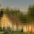 Lakeside Living On Wiggins Lake - Abstract by Tom Clark