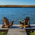 Lakeside Seating For Two by Lowlight Images