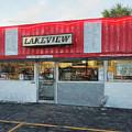 Lakeview Drive Inn Winona Minnesota Drawing Effect by Kari Yearous
