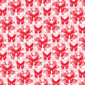 Lalabutterfly Red And White by Deborah Runham