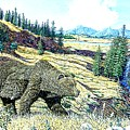 Lamar Valley Grizz by Wayne Monninger