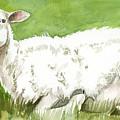 Lamb In Spring by Linda L Martin