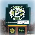 Lambeau Field Sign by Kay Novy