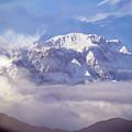 Lamjung Himal Peak Above The Clouds by Yuka Ogava