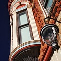 Lamp And Building Details  by Buck Buchanan