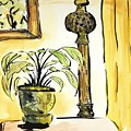 Lamp And Plant by Maria Langgle