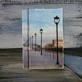 Lamp Post Row Layered by Anita Burgermeister