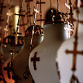 Lamps Inside The Church Of The Holy Sepulchre, Jerusalem by Idan Badishi