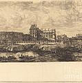 L'ancien Louvre D'apr?s Une Peinture De Zeeman, 1651 (the Old Louvre, From A Painting By Zeeman, L651) by Charles Meryon