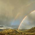 Land Of Enchantment - Rainbow Over Sandia Mountains by Matt Tilghman